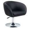Home & Haus Leather Effect Lounge Stool