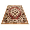 Home & Haus Halite Brown Area Rug