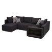 Home & Haus Sofa Barmedman mit Mikroveloursbezug und LED-Beleuchtung
