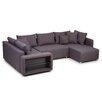 Home & Haus Sofa Barmedman mit Strukturstoffbezug und LED-Beleuchtung