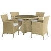 Home & Haus Lianne 4 Seater Dining Set with Cushions