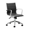 Home & Haus Mid-Back Leather Executive Chair