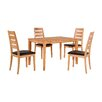Home & Haus Dining Table and 4 Chairs (Set of 4)