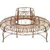 Home & Haus Iron Circular Tree Bench