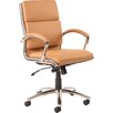 Home & Haus Alcatraz Mid-Back Leather Executive Chair