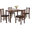 Home & Haus Benny Dining Table and 4 Chairs