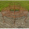 Home & Haus Pamela Iron Circular Tree Bench