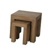 Home & Haus Tadema Solid 2 Piece Nest of Tables