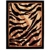 Home & Haus Halite Black/Orange Area Rug