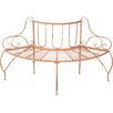 Home & Haus Cayuga Iron Semi Circular Tree Bench