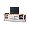 Home & Haus The 179cm Stephen TV stand features 4 doors and 4 open compartments