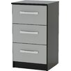 Home & Haus Lincoln 3 Drawer Bedside Table