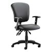 Home & Haus Toledo Mid-Back Leather Desk Chair
