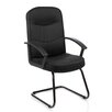 Home & Haus Harlem Mid-Back Visitor Cantilever Chair with Arms