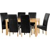Home & Haus Cesane Dining Table and 6 Chairs