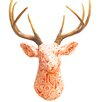 Near and Deer Faux Taxidermy Fabric Deer Head Wall Décor