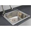 "Wells Sinkware Chicago Series 25"" x 22"" D-shaped Topmount Kitchen Sink"