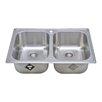 "Wells Sinkware Chicago Series 33"" x 22"" Double Topmount Kitchen Sink"