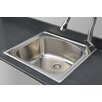 "Wells Sinkware Chicago Series 25"" x 22"" D-shaped Topmount Kitchen Sink"