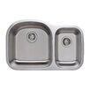 "Wells Sinkware Craftsmen Series 31.5"" x 20.5"" 70/30 D-shaped Double Bowl Kitchen Sink"