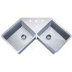 "Wells Sinkware Speciality Series 44.38"" x 23.5"" Butterfly Corner Kitchen Sink"