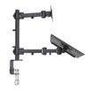 Vivo Laptop and LCD Monitor Height Adjustable 2 Screens Desk Mount