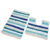 Allure Nevada 2 Piece Bath and Pedestal Mat Set