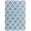 Coralie Flooring Trellis Hand-Tufted Blue Area Rug