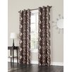 No. 918 Millennial Kevin Grommet Woven Print Single Curtain Panel