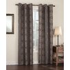 Sun Zero Nikita Medallion Thermal Lined Grommet Single Curtain Panel