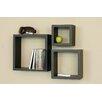 nexxt Design Cubbi 3 Piece Wall Shelf Set