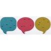 nexxt Design 3 Piece Chat Cork Bulletin Board Set (Set of 9)