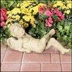 Ladybug Garden Decor Resting Cherub Statue