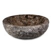 Ryvyr Round Marble Vessel Bathroom Sink with Rough Exterior
