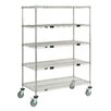 Nexel Standard Duty Wire Exchange and Linen Transport Truck 5 Shelf Shelving Unit