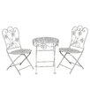 Ambiente Haus 2-tlg. Rundes Kinder Tisch und Stuhl-Set