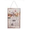 Ambiente Haus Schild Kalender Blumen, Retro-Werbung in Beige