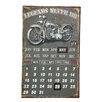 Ambiente Haus Schild Kalender Biker, Retro-Werbung in Grau