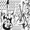 Graz Design Wandaufkleberset Musik Noten - 57 x 57 cm