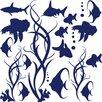 Graz Design Wandaufkleberset Fische - 57 x 57 cm