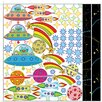Graz Design Wandsticker-Set UFOs, Sterne, Raketen, Planeten