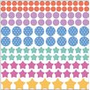 Graz Design Dots and Stars, Hearts, Stripes Wall Sticker Set