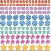 Graz Design Wandsticker-Set Punkte und Sterne Herzen Streifen