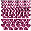 Graz Design Hearts with Leopard Print Wall Sticker Set