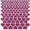 Graz Design Wandsticker-Set Herzen Leoparden
