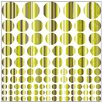 Graz Design Polka Dots with Stripes Wall Sticker Set