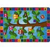 Flagship Carpets Educational Green/Blue Area Rug