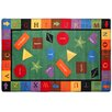 Flagship Carpets Educational Green/Red Area Rug