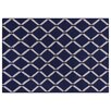 Rug Expressions Flat Weave Royal Blue Area Rug