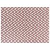 Rug Expressions Flat Weave Pink/White Area Rug